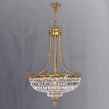 Espléndida lámpara colgante de cristal Stephanie
