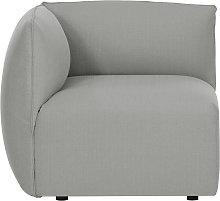 Esquina de sofá moderno tejido gris MODULO
