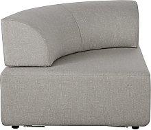 Esquina de sofá modular gris