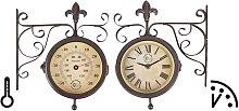 Esschert Design Reloj de estación con