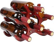 Estante de Madera para 6 Botellas, estantes para