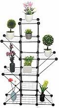 Estante de metal para plantas, maceta de flores