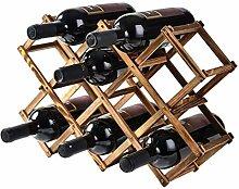 Estante de Vino apilable de 3 Niveles - Gabinete