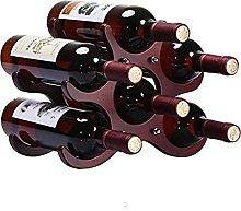 Estante de Vino de Madera para 6 Botellas, Soporte