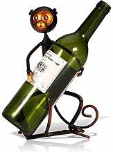 Estante de Vino-Metal Forma de Mono Estante de