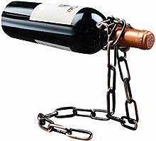 Estante de vino vintage hierro acero inoxidable