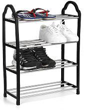 Estante para zapatos de viaje de 4 niveles Soporte