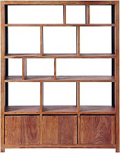 Estantería con 3 puertas de madera de sheesham