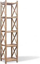 Estantería de Bambú Cuadrada de 5 Niveles Vida XL