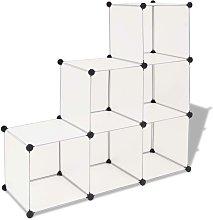 Estantería de cubos con 6 compartimentos blanco -