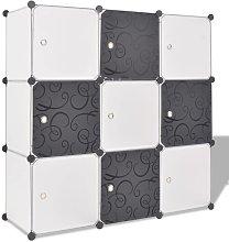 Estantería de Cubos con 9 Compartimentos Negro y
