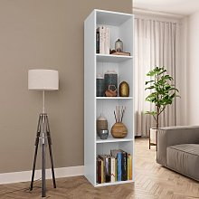Estantería de libros/mueble TV aglomerado blanco