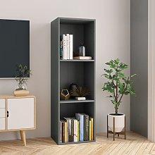Estanteria de libros/mueble TV aglomerado gris