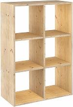 Estantería Dinamic modular con 6 cubos de madera