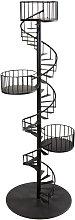 Estantería en escalera espiral de metal negro