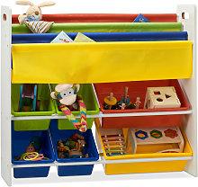 Estantería infantil con cajas, Estantes