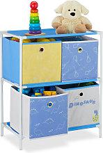 Estantería infantil con cuatro cajas, Almacenaje