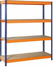 Estanteria Metalica Azul / Naranja, 4 Estantes