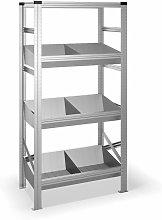 Estantería metálica con 4 estantes 325B41974