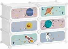 Estantería modular infantil de 6 cubos, Zapatero