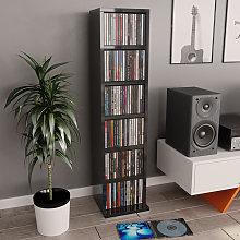 Estanteria para CD de aglomerado gris brillante