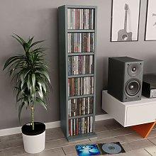 Estantería para CDs de aglomerado gris 21x16x88