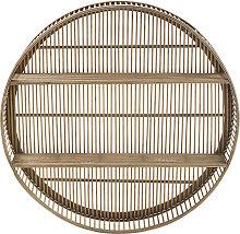 Estantería redonda de bambú