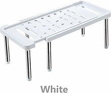 Estantes de Cocina, Blanco/gris Inicio organizador