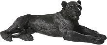 Estatua de leona negra L.112