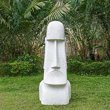 Estatua gigante del jardín Moai de la Isla de