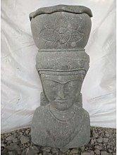 Estatua jardin macetero diosa balinesa de piedra