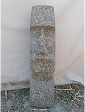 Estatua Jardín Zen Moaï Rostro Alargado De