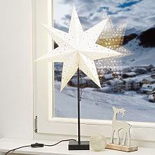 Estrella de pie Solvalla, altura 69 cm, plata