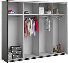 Estructura de armario color negro, 242,7 x 200,4 x