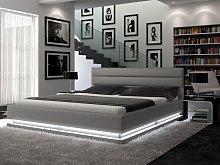 Estructura de cama NUBIS - 160x200 cm - Piel