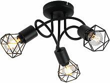Etc-shop - Foco de techo retro lámpara de jaula