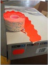 Etiqueta Adhesiva 32X19Cm Rojo Fluorescente Meto