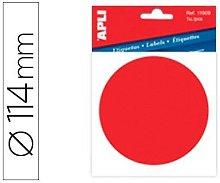Etiqueta adhesiva apli 11909 vinilo rojo