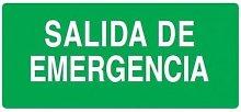 Etiqueta adhesiva salida de emergencia 060971 -