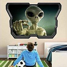 Etiqueta De La Pared 3D -Aliens Nave Espacial Ojo