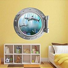 Etiqueta De La Pared 3D -Pez Submarino Ojo De Buey