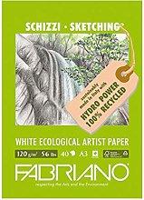Fabriano Bloc de dibujo, A3, blanco, 29.7 x 42 x