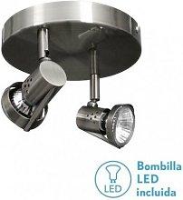 Fabrilamp - Plafon Foco De 2l. Gu10 50w (12x23x23)