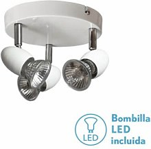 Fabrilamp - Plafon Foco Sonora Blanco 3xgu10 Bomb.