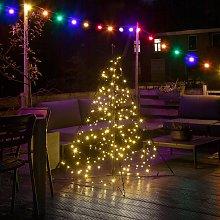 Fairybell árbol de Navidad, mástil, 240 LEDs