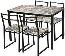 Fanmuebles - Conjunto mesa con 4 sillas Dorian