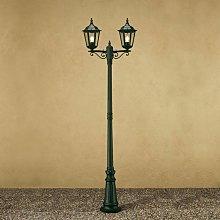 Farola Firenze, 2 luces, verde