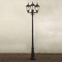 Farola Firenze, 3 luces, negro