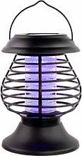 Farolillo Antimosquitos Solar LED Exterior Negro