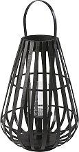 Farolillo de bambú negro y cristal Alt.55